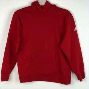 Adidas Youth Hoodie Red Large Cotton